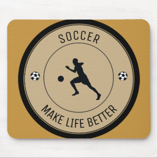Soccer Player Mouse Pad