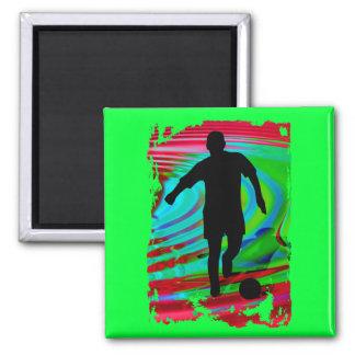 Soccer Player & Radical Rainbow Fridge Magnet