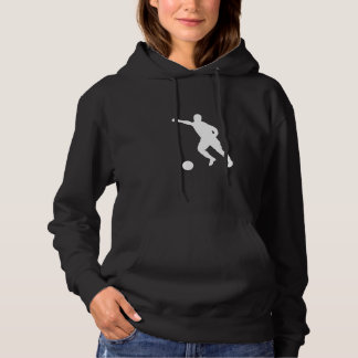 Soccer Player Silhouette Hoodie