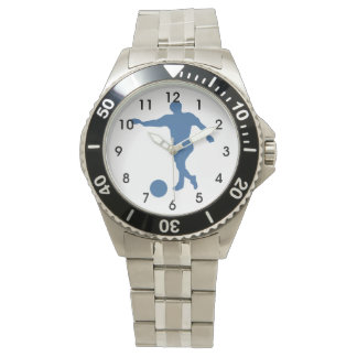 Soccer Player Silhouette Watch