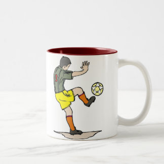 Soccer Player Two-Tone Coffee Mug