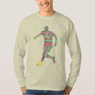 Soccer Player Typographic T-Shirt