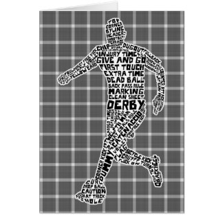 Soccer Player Typography Greeting Card