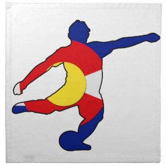 Soccer Player with Colorado Pride! Napkin