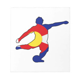 Soccer Player with Colorado Pride! Notepad