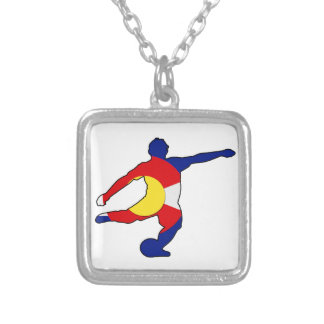 Soccer Player with Colorado Pride! Silver Plated Necklace