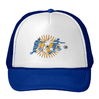 Soccer players Argentinian sun flag gifts Hats