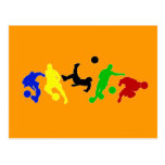 Soccer players   football sports fan postcard