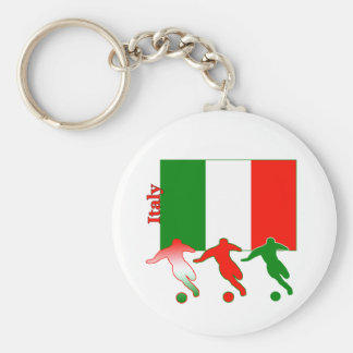 Soccer Players - Italy Keychain