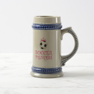 Soccer Princess Beer Stein