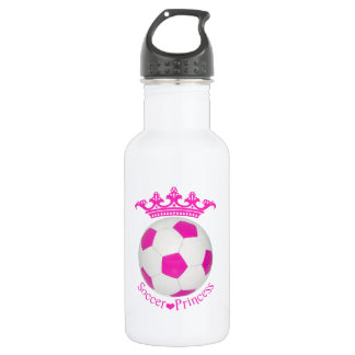 Soccer Princess, Pink Soccer ball 532 Ml Water Bottle