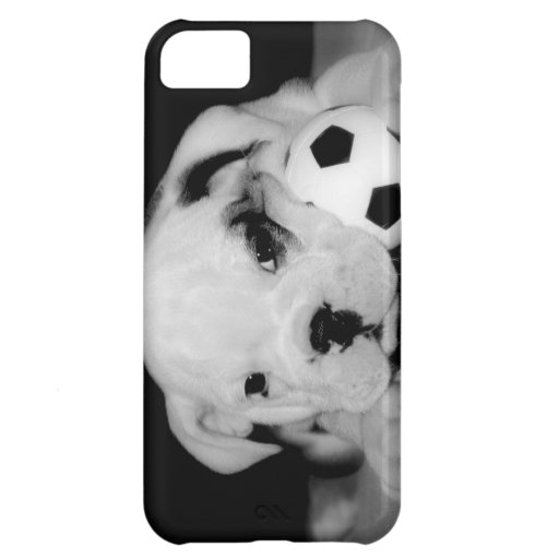 """Soccer Puppy"" English Bulldog Case For iPhone 5C"