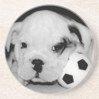 """Soccer Puppy"" English Bulldog Coaster"