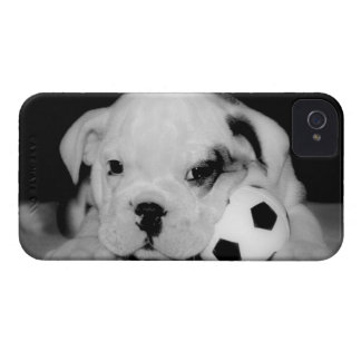 """Soccer Puppy"" English Bulldog iPhone 4 Covers"