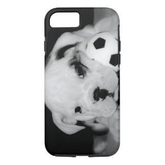 """Soccer Puppy"" English Bulldog iPhone 7 Case"