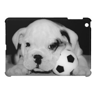"""Soccer Puppy"" English Bulldog Photography iPad Mini Covers"