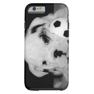 """Soccer Puppy"" English Bulldog Tough iPhone 6 Case"