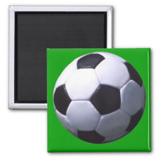 Soccer Real Football Square Magnet