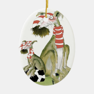 soccer reds, like father like son ceramic ornament