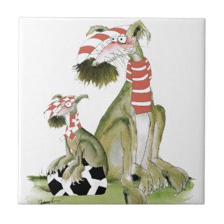 soccer reds, like father like son ceramic tile