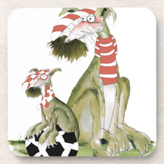 soccer reds, like father like son coaster