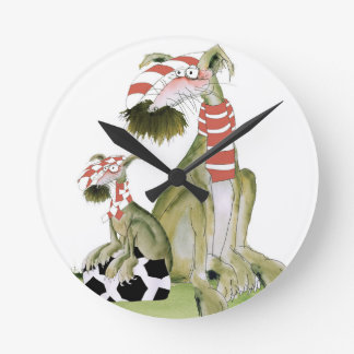 soccer reds, like father like son round clock
