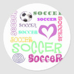 Soccer Repeating Round Stickers