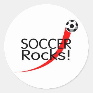 Soccer Rocks Classic Round Sticker