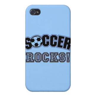 Soccer Rocks T shirts and Gifts iPhone 4 Cover