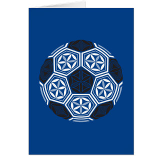 soccer sacred geometry blue card