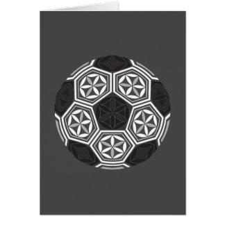 soccer sacred geometry card