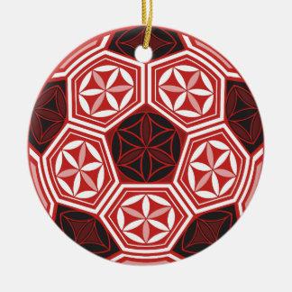 soccer sacred geometry ceramic ornament