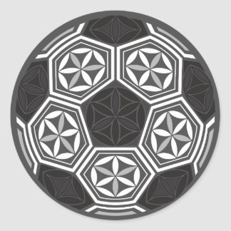 soccer sacred geometry classic round sticker