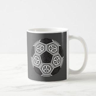 soccer sacred geometry coffee mug