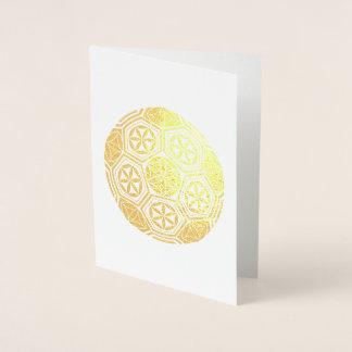 soccer sacred geometry foil card
