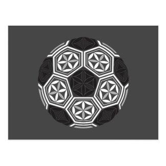 soccer sacred geometry postcard