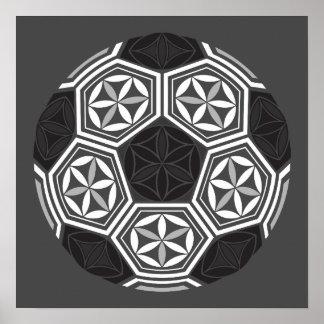 soccer sacred geometry poster