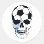 Soccer Skull (Football Skull) Round Sticker