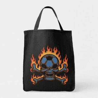 Soccer Skull III Grocery Tote Bag