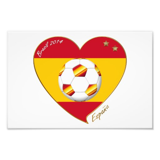 "SOCCER ""SPAIN"" Spain Spanish Football Soccer Team Photo Art"