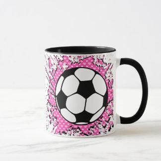 soccer splat. mug