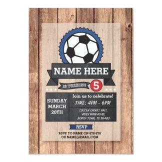 Soccer Sports Party Football Ball Birthday Invite