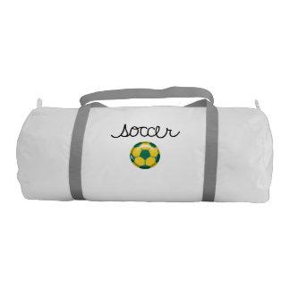 Soccer Sports Theme Gym Duffel Bag