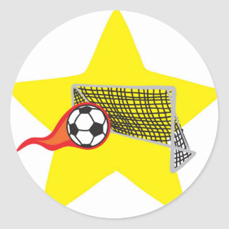 Soccer star!  Customizable: Classic Round Sticker