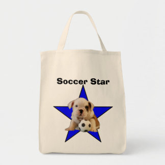 Soccer Star English Bulldog Puppy Light Bag