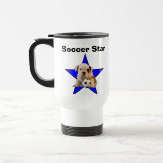 Soccer Star English Bulldog Puppy Mug