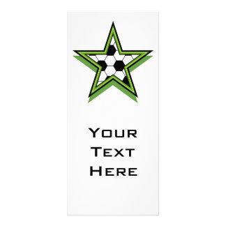 soccer star green customized rack card