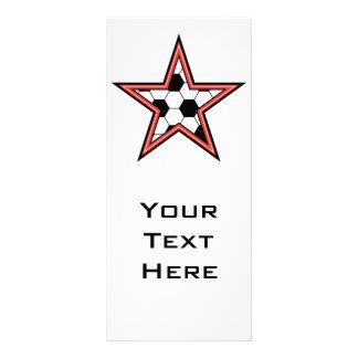 soccer star red full colour rack card