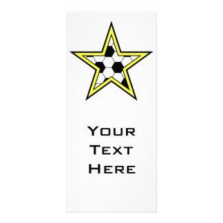 soccer star yellow rack card design