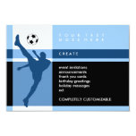 soccer stripes personalized announcement